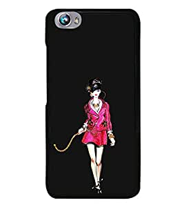 Ramp Walk 2D Hard Polycarbonate Designer Back Case Cover for Micromax Canvas Fire 4 A107