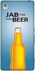 The Racoon Grip Jab tak hai beer hard plastic printed back case / cover for Sony Xperia Z4