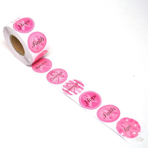 Fun Express Pink Ribbon Sticker Roll