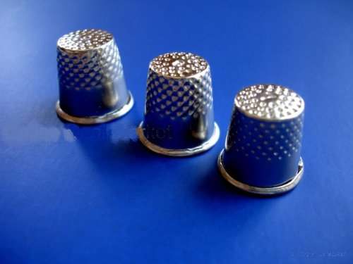 Best Prices! NEW 3 Assorted Size 7 8 & 9 SEWING Thimbles Thimble Safety Quilting
