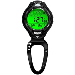 Thermometer UV Sensor Clip Watch with Tide Function