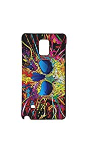 Multicolor Skull Mobile Back Cover/Case For Samsung Galaxy Note 4