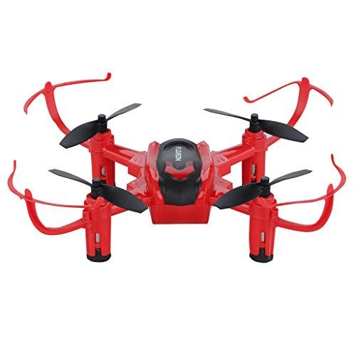 Floureon H101 - Mini Drone Cuadricóptero RC (Modo headless, 2.4GHz, 6 Axis Giroscopio, 4 Canales, 360 rotación), Rojo