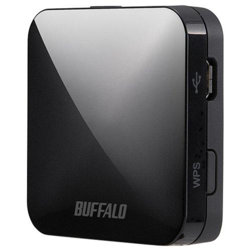 BUFFALO【iphone6 対応】11ac/n/a/b/g 無線LAN親機(Wi-Fiルーター)エアステーション QRsetup 433Mbps ブラック WMR-433-BK (利用推奨環境1人・ホテル用)