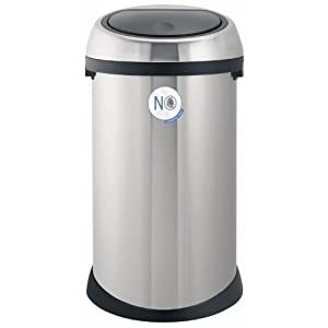 Brabantia 378706 Touch Bin - 50 litre - Matte Steel Fingerprint Proof