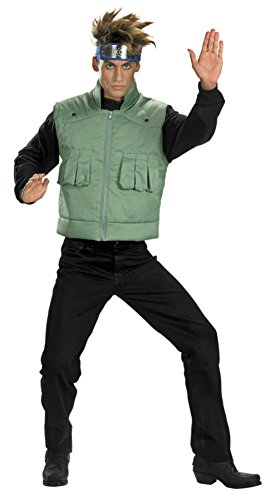 Disguise Mens Deluxe Jacket Tv & Movie Characters Naruto Kakashi Fancy Costume