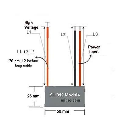 12V NEGATIVE ION GENERATOR High Density ionizer 9.5Kv Module Only