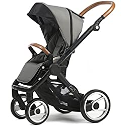 Mutsy Evo Urban Nomad Stroller, Black Chassis, Light Grey