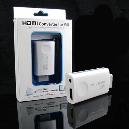 QUMOX Wii al convertitore di HDMI Adattatori TV HD 1080P 720P Uscita video PAL NTCS [Nintendo Wii]