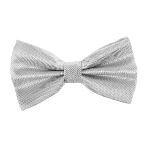 Dbc2011 Grey Certificate Checkered Gainsboro Pre-Tied Bow Tie By Dan Smith