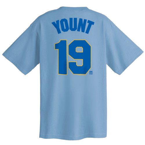 Robin Yount Milwaukee Brewers Cooperstown Name and Number T-Shirt