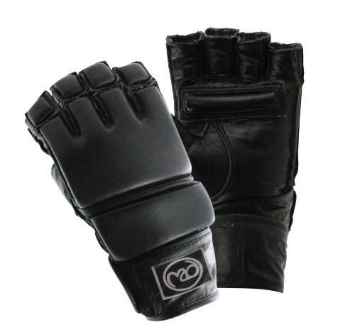 Boxing-Mad Leather Grappling MMA Glove - X-Large, Black