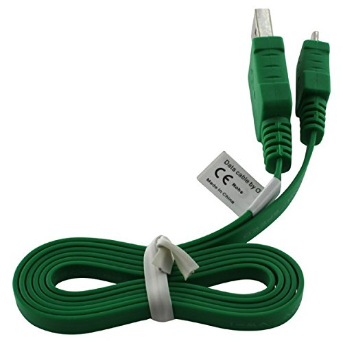 PREMIUM USB Flachbandkabel / Datenkabel / Ladekabel / usb cable GRÜN für Samsung S3370/ S3500/ S3550/ S3770/ S3850 Corby 2/ S5150/ S5250 Wave/ S5260/ S5330 Wave2 Pro/ S5350/ S5510/ S5530-inkl. Touchpen von World of Technik