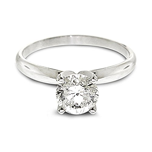 1/4 Ctw Solitaire Diamond Engagement Ring Gh/Si2-I1 14K White Gold