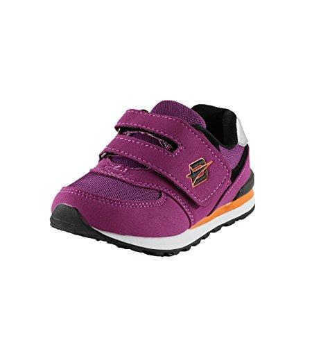 Dream Seek Girls Little Kid 4502 Purple/Black Velcro Sneaker - 3 M US Little Kid