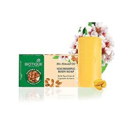 Biotique Bio Almond Oil Nourishing Body Soap, 150g (Pack of 3)