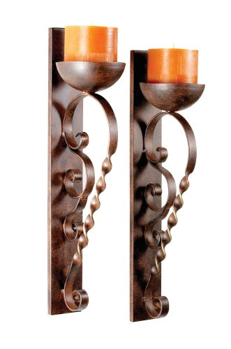 Wall Sconces Mexican : Decorating Mexico Style Clay Roof Tile Candle Sconce Hacienda Home Style .com