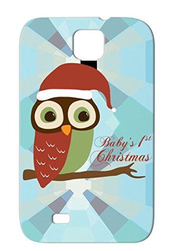 Red Babys 1St Christmas Santa Owl Case For Sumsang Galaxy S4 Christmas Baby Holidays Occasions Owl New Santa Babys Anti-Scuff front-512781