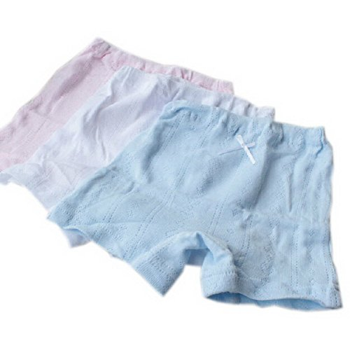 Set Of 3 Solid Soft Cotton Panties For Girls Breathable Boy Shorts 4-5Y front-846592