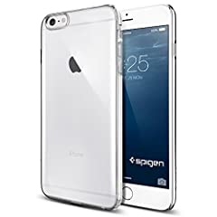 iPhone 6 Plus ケース, Spigen®  [滑り防止加工]  シン ・フィット Apple iPhone (5.5) アイフォン 6 プラス カバー (国内正規品) (クリスタル・クリア 【SGP10885】)