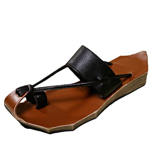 Mordenmiss Women's Leather Shoes Summer Casual Sandals