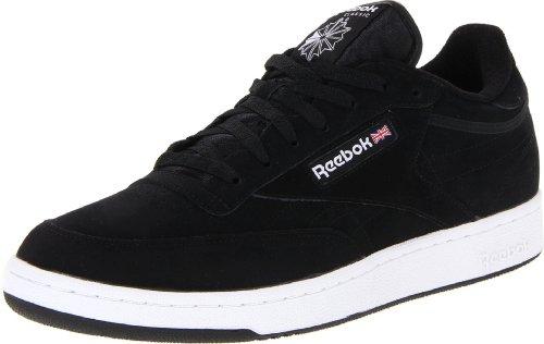 Reebok Men's Club C Shoe,Black/White/Black,13 M US