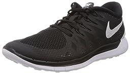 Nike Men\'s Free 5.0 Black/White/Anthracite Running Shoe 9 Men US