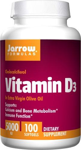 Jarrow Formulas vitamine D3, 5000IU, 100 gélules