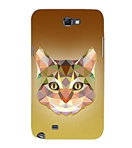 Meow Cat 3D Graphics 3D Hard Polycarbonate Designer Back Case Cover for Samsung Galaxy Note 2 :: Samsung Galaxy Note 2 N7100