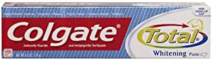 Colgate Total Whitening Paste, Anticavity Fluoride and Antigingivitis Toothpaste Paste, 6 Ounce (170 g)