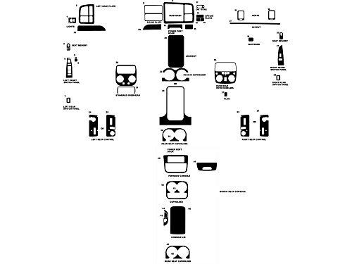 Rdash Dash Kit Decal Trim for Chevrolet Silverado 1999-2002 /Suburban / Yukon / Tahoe 2000-2002 / Avalanche 2002 / GMC Sierra 1999-2002 / Yukon Denali 2000-2002 - Wood Grain (Burlwood Dark) (Dash Kits For 2000 Yukon Denali compare prices)