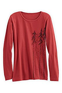 Green 3 Apparel Long Sleeve Trees Organic Made in USA T-shirt