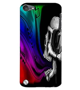 APPLE IPOD TOUCH 5 SKULL Back Cover by PRINTSWAG