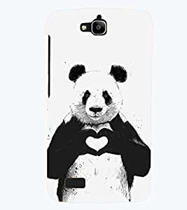 printtech Panda Back Case Cover for Huawei Honor Holly