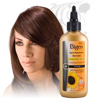Bigen Semi-Permanent Hair Color #JB1 Jet Black 3 oz.