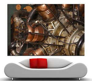 LanLan Radial Engine Vintage Airplane Canvas Print Fine Wall Art Home Prints ,Size:12 x 18 inches Unframed