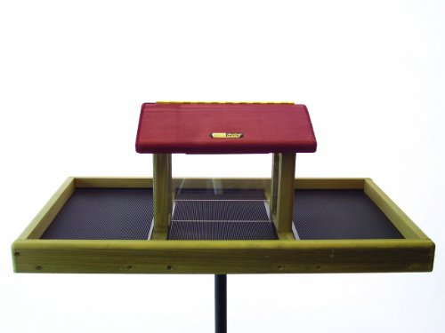 Birds Choice 3 qt. Hopper w/Platform with Red Roof