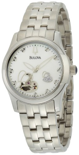 Bulova Women's 96P114 Stainless-Steel Automatic Watch with Mother-Of-Pearl Dial