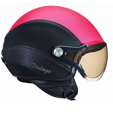 NEXX X60 Vintage - Casque jet moto/scooter rose