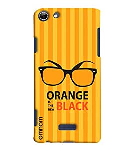 Omnam Orange Is The New Black Printed Designer Back Cover Case For Micromax Selfie 3