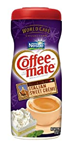 Coffee-Mate Italian Sweet Creme Powdered Coffee Creamer, 15-Ounce Packages (Pack of 6)