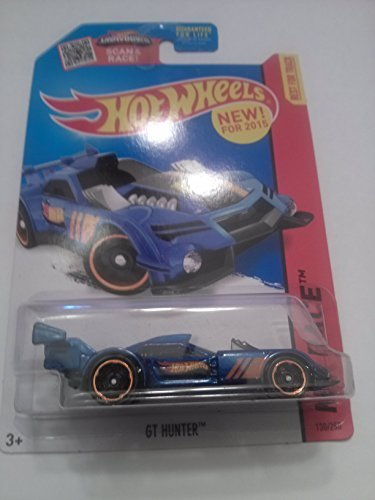 Hot Wheels, 2015 HW Race, GT Hunter [Black/Blue] Die-Cast Vehicle #130/250 - 1