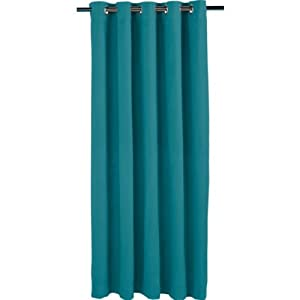 essentialz living blackout ring top curtains 117x137cm deep teal