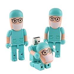 Generic 8GB 8G Blue Doctor Shape Gift Cartoon USB Flash Drive Pen Drive Memory Stick Pendrive