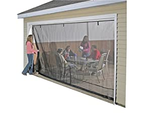 Amazon Com Shelterlogic 16x7 Garage Screen With Roll Up