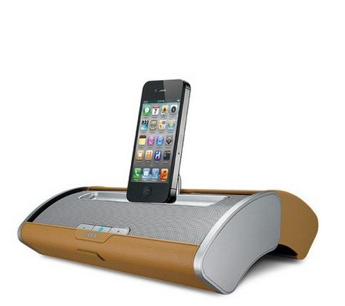 Ihome Dual Charging Protable Stereo System for 30 Pin Products with Protective Sliding Door (WoodGrain) stereo system