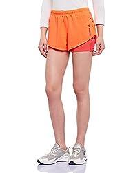 Reebok Women's Shorts (AK0437_Orange_X-Small)