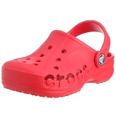 Crocs Unisex-Child Baya Sandals Red 4/5 UK