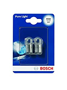 Bosch 1987301022, Car Light Bulb, R5W Pure Light, Brake Light, Turn Signal, Taillight, Licence Plate Light