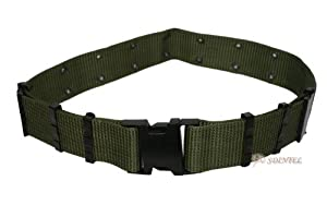 Tactical S Belt Olive Military Heavy Duty Webbing With Metal Anti-slip Adjustmen by SURVIVOR